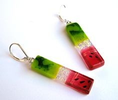 Custom Made Fused Dichroic Glass Earrings