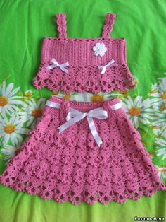 42 Adorable Crochet Baby Dress Patterns Images for 2019 - Page 25 of 67 Crochet Baby Dress Free Pattern, Newborn Crochet Patterns, Baby Dress Patterns, Crochet Baby Clothes, Knitting Patterns, Crochet Toddler, Crochet For Kids, Crochet Skirts, Knit Crochet