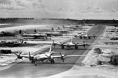 Tinain Airport were they loaded the Enola Gaye with the Atomic Bomb that they dropped on HIROSHIMA