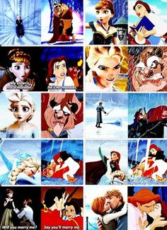 Frozen and Beauty and the Beast parallels. Like my two favorite Disney movies ever! I was actually thinking this!