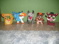 The Lion King Themed Letter Art by GunnersNook on Etsy