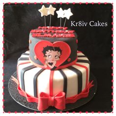 Ultra moist vanilla Betty Boop cake