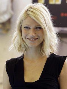 Gwitney Paltrow. Melena despeinada con raya a un lado desigual #peinados #cabello #mujer #celebrities #hollywood