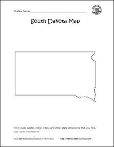 South Dakota Printables: South Dakota State Map