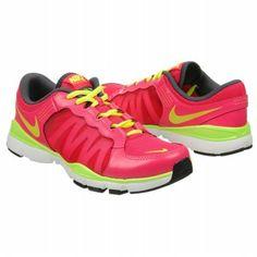 Athletics Nike Womens FLEX TRAINER 2 Pink Force/ Volt/ An FamousFootwear.com