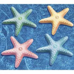 Set of 4 numbered Starfish - Dive and retrieval game.