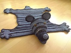 Bear Rug - free pattern via Ravelry