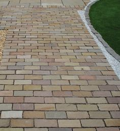 Global Stone, Pathway Setts, Autumn Blend, 200 x 100mm. Quality Paving at LSD.co.uk