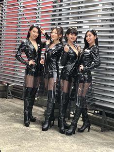 Grid Girls, Sexy Latex, Latex Cosplay, Promo Girls, Vinyl Dress, Vinyl Clothing, Beautiful Asian Women, Sexy Asian Girls, Asian Fashion