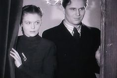 Irma Seikkula and Olavi Reimas (oh, he is so fine!) in Varaventtiili (1942)