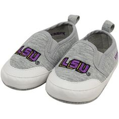 LSU Tigers Infant Ash Pre-Walk Shoes