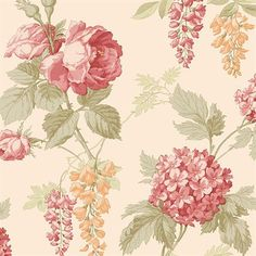 Floral Wallpaper - CG28830 from Rose Garden book