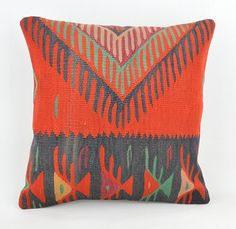 Cojin kilim lana unico, 40x40 cm ,16x16inc, home decor ,decorative pillow,