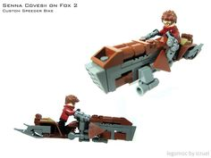 Custom Speeder Bike Entry for Lego Speeder Bike 2016 Minifigures Lego, Lego Minifigure Display, Legos, Lego Machines, Lego Clones, Lego Challenge, Lego Pictures, Lego Ship, Lego Spaceship