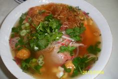 If you're looking for good Mi Trieu Chau in Charlotte, NC, you'll find it at Pho An Hoa. With quail eggs and big shrimps, you won't regret it.