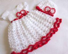 Crochet PATTERN for baby dress baby crochet dress by paintcrochet