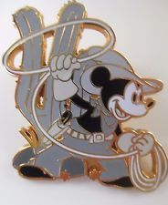 Disney Pin - Black & White Two Gun Mickey Through the Years #48462