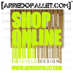 #Arredare con il #pallet da oggi è facilissimo acquista i nostri prodotti direttamente da casa tua con lo #ShoppingOnline di #ArredoPallet clicca qui http://www.arredopallet.com/pallet-shop/
