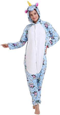 Gold,S Adult Onepiece Unicorn Pajamas Plush Fox Animal Halloween Cosplay Suit