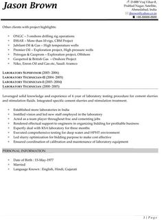 A sample resume for someone working in the security field. #security ...