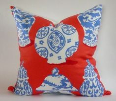 Dana Gibson Pillow Cover in Canton by WestEndAccents on Etsy
