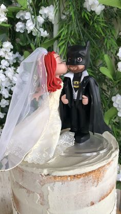 wedding cakes videos You can be a beautiful bride and he can be your superhero! Come visit me on my Etsy today and order yours. Batman Wedding Cake Topper, Camo Wedding Cakes, Custom Wedding Cake Toppers, White Wedding Cakes, Batman Cake Topper, Happy Birthday Friend Images, Birthday Wishes, Comic Book Wedding, Wedding Reception Planning