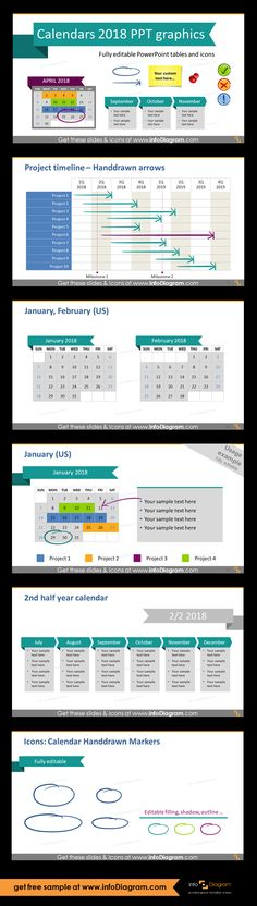 Editable Powerpoint Tables  Monthly Calendars With Weekdays Us