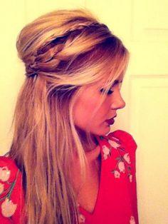 Idée coiffure soirée cheveux mi long