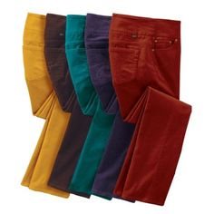 Deep autumn colors, but also fun (not too bright)  Original Fit JAG Pull-On Straight Leg Cords