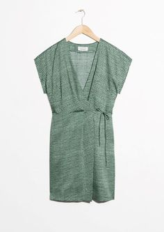 & Other Stories image 1 of Sleeveless Wrap Dress in Green