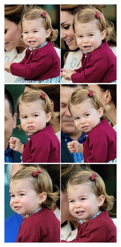 Princess Charlotte with her mother, Catherine Duchess of Cambridge bids fare well to Canada.  October 2, 2016.