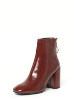 Womens Burgundy 'Atlas' Ankle Boots- Red