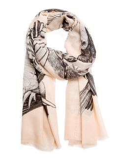 MANGO - Birds print foulard