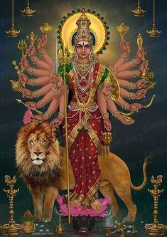 Maa Durga Image, Durga Kali, Shiva Hindu, Shiva Art, Hindu Deities, Hindu Art, Maa Image, Shiva Parvati Images, Durga Images