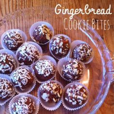 Beauty and Bananas : Gingerbread Cookie Bites! (Raw, Vegan, Gluten Free!)