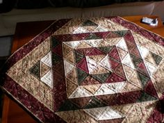 hand quilted table topper