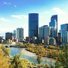Calgary, Canada View of downtown Calgary from Prince's Island Park. It was a lovely warm September day.