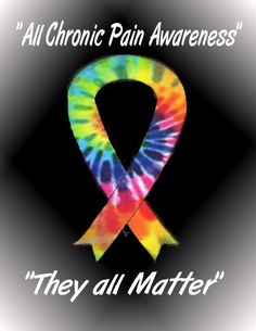 Chronic pain awareness ribbon