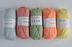 Paintbox Yarns colour combination ideas. Post via This Little Space of Mine
