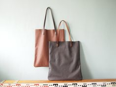 Leather Tote Bag  Leather Shoulder Bag Leather by JeanieDeans, $129.00