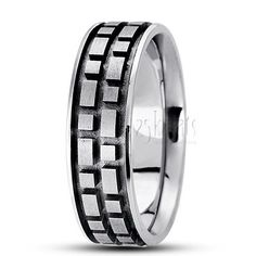 Basic diamond carved wedding ring