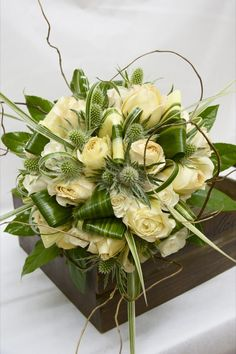 The Watering Can - Bridal Bouquets | White and Green Flowers (wedding)