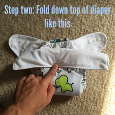 How to Turn Your One-Sized Cloth Diaper Into a Newborn Size!
