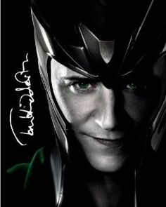 The Avengers Autographed 8x10 Loki Photo Signed By Tom Hiddleston