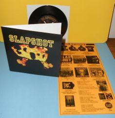 "SLAPSHOT i believe , rejected , gates of .. 7"" Record Vinyl boston punk hardcore"