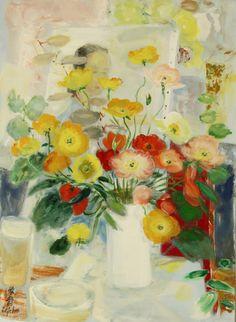 Lê Phô (Vietnamese-French, 1907-2001) Composition, N/D Oil on canvas, 100 x 73 cm