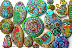 Artist- colorful and happy picture of my #paintedstones