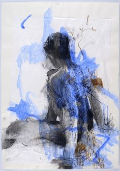 <em>Blue Nude, Seated (Unframed)</em> Nicky Basford