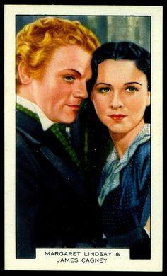 Cigarette Card - Margaret Lindsay & James Cagney | Flickr - Photo Sharing!