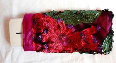 Handy Tasche Exotic, Handysocke paillettenbestickt von Prinzessinnen-Schneiderey auf DaWanda.com
